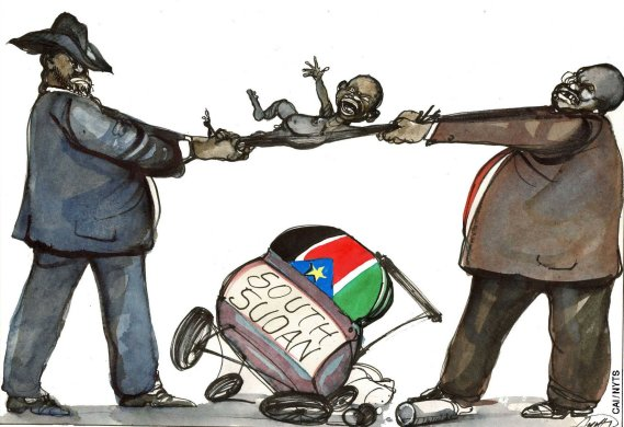The tug-of-war duel between Kiir and Riek is now a threat to the survival of a 3-year-old Solomonic baby (RSS).